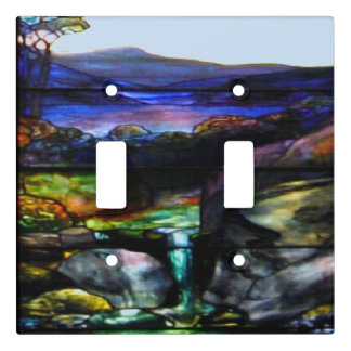 Stain Glass Nature Light Switch Cover