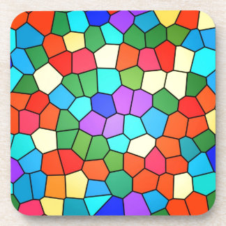 Stain Glass Rainbow Design Coasters