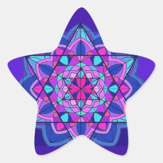 Stain Glass. The Star of David. Star Sticker