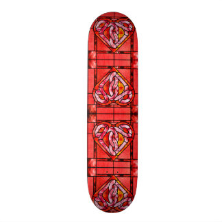 Stained Cherry Wood Hearts Custom Pro Park Board Skateboard