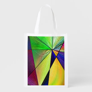 Stained Glass 5 Reusable Grocery Bag