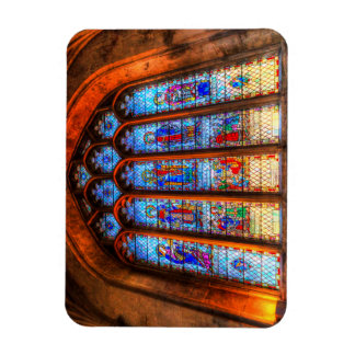 Stained Glass Abbey Window Magnet