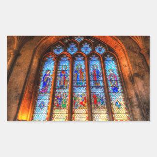 Stained Glass Abbey Window Sticker