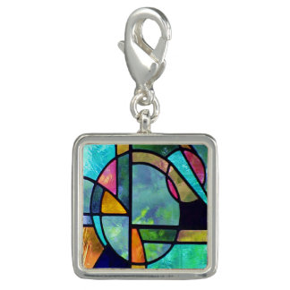 Stained Glass Abstract 1 Charms