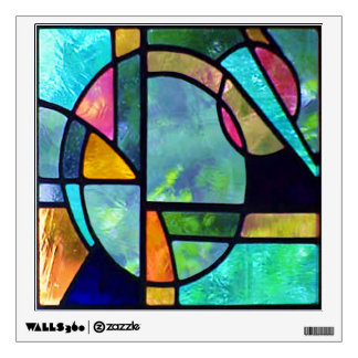 Stained Glass Abstract 1 Wall Decal