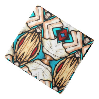 Stained Glass Abstract Art Background Bandana