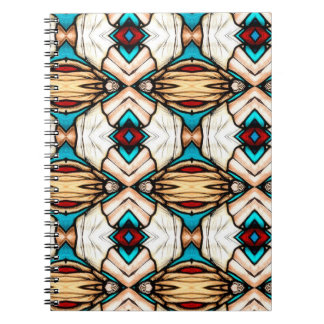 Stained Glass Abstract Art Background Spiral Notebook