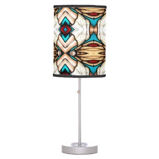 Stained Glass Abstract Art Background Table Lamp