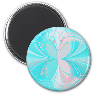 Stained Glass Abstract Butterfly Magnet