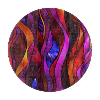 Stained Glass Abstract Cutting Boards