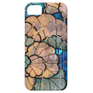 Stained glass abstract floral iPhone 5 5s case