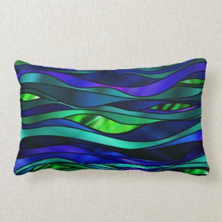 Stained Glass Abstract Lumbar Pillow