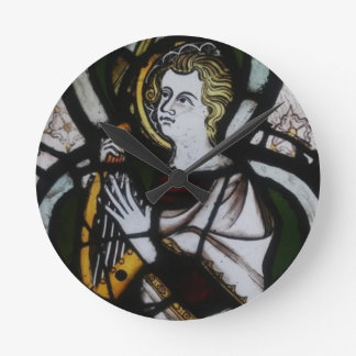 Stained Glass Angel Clock
