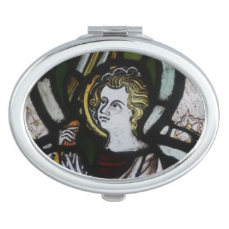 Stained Glass Angel Compact mirror
