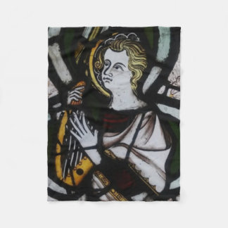 Stained Glass Angel Fleece blanket