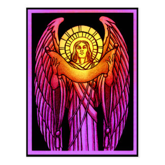 Stained Glass Angel Postcard