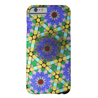 Stained Glass Art Nouveau Flowers Barely There iPhone 6 Case