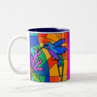 Stained Glass Birds Mug