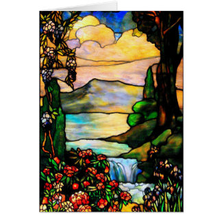 Stained glass (blank note card) card