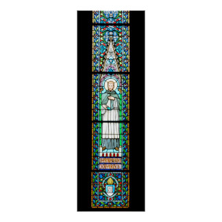 stained glass budapest religion cathedral Matthias Poster