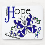 Stained Glass Butterfly ALS Mousepad
