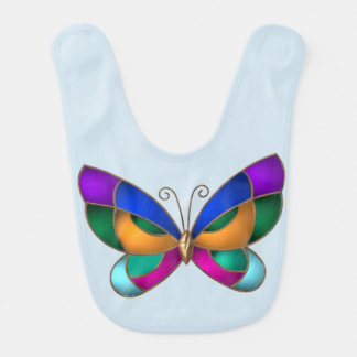 Stained Glass Butterfly Bib