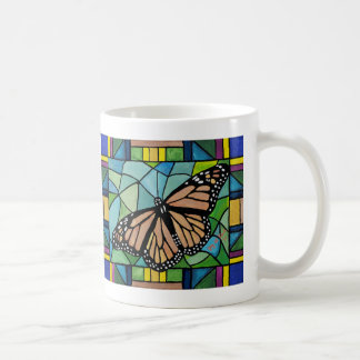 Stained Glass Butterfly Mug