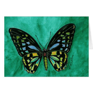 Stained Glass Butterfly Notecard