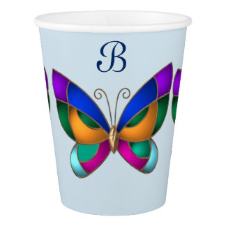 Stained Glass Butterfly Paper Cup