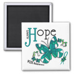 Stained Glass Butterfly PCOS Refrigerator Magnet