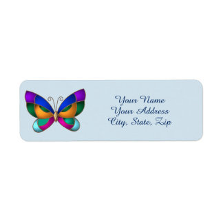 Stained Glass Butterfly Return Address Label