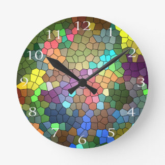 Stained Glass by Shirley Taylor Round Clock