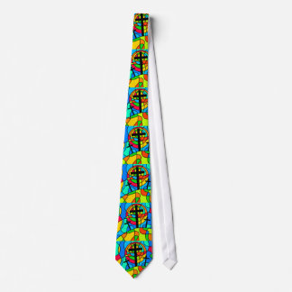 Stained Glass Calvary Cross Tie