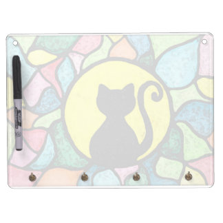 Stained Glass Cat Key Chain Holder Dry Erase Board