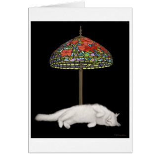 Stained Glass Cat Sunlamp Card