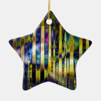 Stained Glass Ceramic Ornament