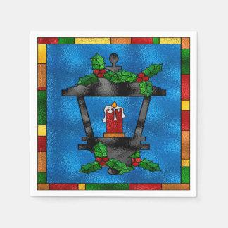 Stained Glass Christmas Lantern Napkin