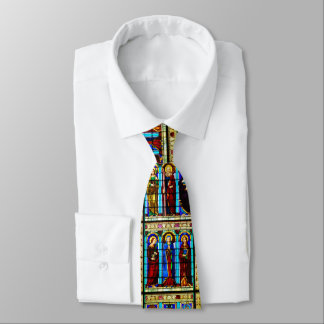 Stained Glass Church Window Christmas Tie