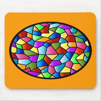 Stained Glass Circle Mousepad