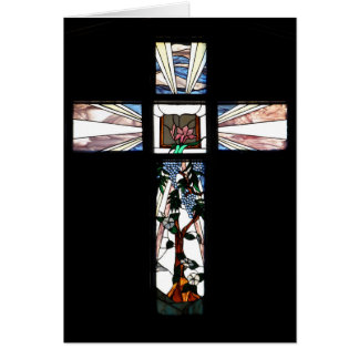 Stained Glass Cross Note Card