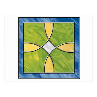 Stained Glass Cross Postcard