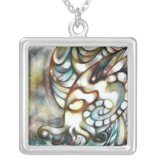Stained Glass Cthulhu Pendant
