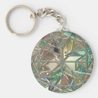 Stained glass/ cut glass design keychain