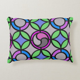 Stained Glass Decorative Pillow
