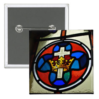 Stained Glass detail 2 Inch Square Button
