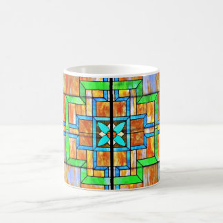 Stained glass detail coffee mug