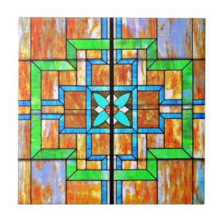 Stained glass detail tile