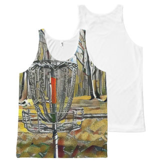 Stained Glass Disc Golf Basket Tank Top