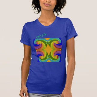 Stained Glass DIVA -Green/Yellow/Blue/Purple T-Shirt