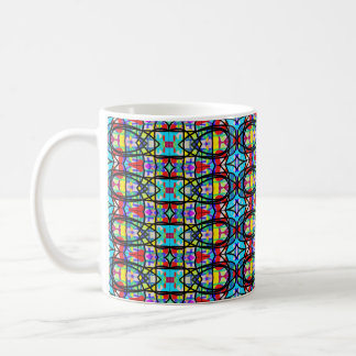 Stained  Glass Doodle Party Coffee Mug